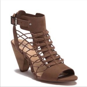 Vince Camuto Brown evel caged heeled sandals